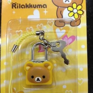 ที่ห้อยโทรศัพท์ รูปแม่กุญแจ สามารถไขได้จริง ลายRilakkuma ริลัคคุมะ