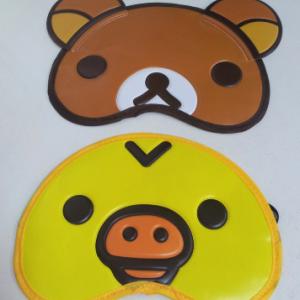ผ้าปิดตา มี2ลาย ริลัคคุมะ (หมีน้ำตาล) และ kiioritori (ลูกเจี๊ยบ)