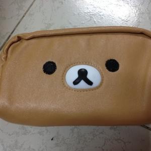 กระเป๋าหนังใส่เครื่องสำอางค์ ริลัคคุมะ Rilakkuma