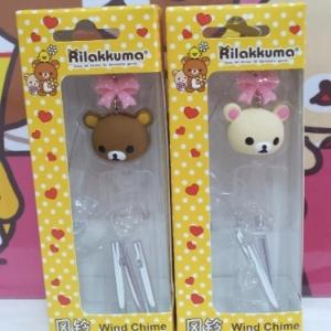 โมบาย กรุ๊งกริ๊ง พร้อมจุ๊บติดกระจก มี2ลาย: Rilakkuma หมีน้ำตาล และ Korilakkuma หมีสีครีม