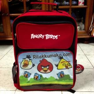 กระเป๋านักเรียน กระเป๋าเป้ ลาย แองกี้เบิร์ด Angry Birds ขนาด 15x12x5นิ้ว
