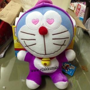 ตุ๊กตา โดเรมอน Doraemon ขนาดสูง8นิ้ว ชุดม่วง