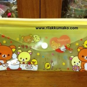 กระเป๋าดินสอ หมี ริลัคคุมะ Rilakkuma ขนาด 8x4นิ้ว
