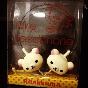หูฟัง Korilakkuma โคะริลัคคุมะ สีครีม#1