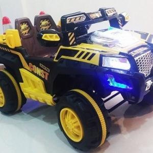 รถแบตเตอรี่เด็ก Jeep Engineer สีเหลือง คันใหญ่สุดๆ 2 มอเตอร์
