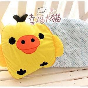 หมอนผ้าห่ม ลาย ลูกเจี๊ยบ โทริ Kiiroitori ขนาดผ้าห่ม 145x100cm