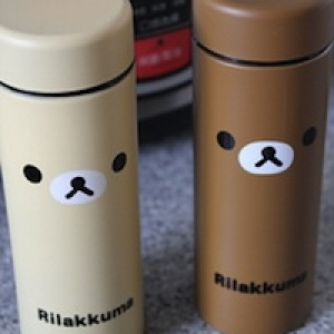 กระติกเก็บความร้อน และ เย็น ลายริลัคคุมะ Rilakkuma หมีน้ำตาล บรรจุ 220mL