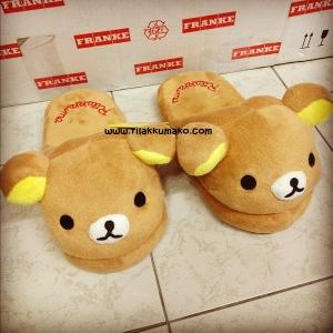 รองเท้าใส่เดินในบ้าน ลายหมี ริลัคคุมะ Rilakkuma