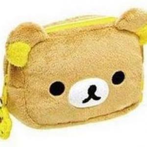 กระเป๋าใส่มือถือ หรือ ใส่เศษสตางค์ 1ช่อง ลายริลัคคุมะ Rilakkuma ขนาด 15x12cm