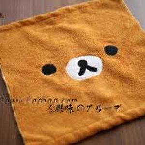 ผ้าขนหนู ลาย Rilakkuma ริลัคคุมะ ขนาด 11x11นิ้ว