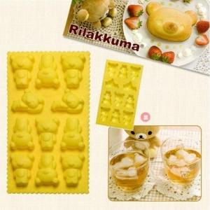 แป้นพิมพ์ทำขนม ทนความร้านถึง200องศา หรือทำน้ำแข็ง ทนความเย็นถึง-20องศา ลายRilakkuma ริลัคคุมะ 11ช่อง