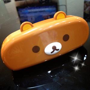 กล่องแว่น Rilakkuma หมีน้ำตาล