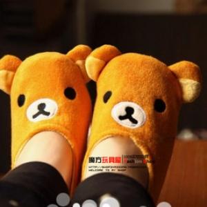 รองเท้า ลาย ริลัคคุมะ Rilakkuma สีน้ำตาล