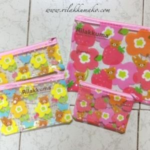 กระเป๋า ลายRilakkuma (1แพ็ค มี4ขนาด)