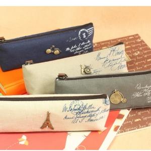 กระเป๋าใส่เครื่องเขียน สไตล์เกาหลี สุดคลาสสิค (ราคาส่ง 3ใบ เหลือใบละ 75บาท)