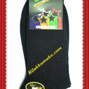ถุงเท้านักเรียน ซุปเปอร์ด๊อก Superdog ข้อยาว สีดำ เบอร์ Freesize