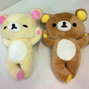 ตุ๊กตา เซ็ตคู่ ริลัคคุมะ Rilakkuma คู่ โคะริลัคคุมะ Korilakkuma นอนไขว้ขา ขนาด 9นิ้ว