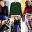 เสื้อคอเต่าแขนยาวมีสีแดง ดำ เขียว thumbnail 1