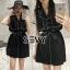 Mini dress โทนสีดำแขนกุด thumbnail 2