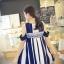 เดรสแฟชั่นเกาหลีทรงสบายสายทาง เว้าช่วงหัวไหล่ แต่งลายโมฮีเมี่ยน มี 2 สีให้เลือก ดำ thumbnail 7