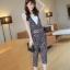 **หมดคะ**Korea ชุดเอี๊ยมกางเกงแฟชั่น+เสื้อสีขาว น่ารักนะค่ะชุดนี้ มี3สีนะค่ะ thumbnail 19