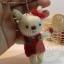 ตุ๊กตากระต่ายถัก ขนาด 8.5 cm. Benny(white) thumbnail 4