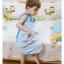 เสื้อคลุมนอน / ชุดคลุมนอน ถุงนอน สำหรับเด็กเล็กเด็กโต แก้ปัญหาเด็กถีบผ้าห่มค่ะ. ใช้ได้ตั้งแต่ 4 เดือน ถึง 4 ปีค่ะ มี 2 สี ฟ้า / ชมพู (ระบุสีที่ต้องการในช่องหมายเหตุตอนสั่งซื้อค่ะ) thumbnail 2