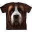 The Mountain Big Face Saint Bernard Dog T-Shirts thumbnail 1