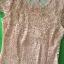 (Pink-Or)ชุดเดรสผ้าลูกไม้ถักทอทั้งชุด สีชมพูโอรสหวานๆ แต่งมุขด้านหน้าสลับเพชรเล็ก วิ๊งวิ๊ง thumbnail 3
