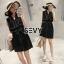 Mini dress โทนสีดำแขนกุด thumbnail 4