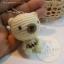 ตุ๊กตาหมีถักขนาด 5.5 cm. - BallBear (white) thumbnail 3