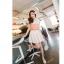 Chu ViVi เสื้อแฟชั่นแขนกุดผ้าซีฟองสีส้ม thumbnail 3