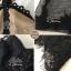 เซ็ตเดรส+เสื้อ ตัวเสื้อแขนยาวผ้าลูกไม่ซีทรูสีดำ thumbnail 4