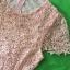 (Pink-Or)ชุดเดรสผ้าลูกไม้ถักทอทั้งชุด สีชมพูโอรสหวานๆ แต่งมุขด้านหน้าสลับเพชรเล็ก วิ๊งวิ๊ง thumbnail 5