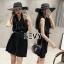 Mini dress โทนสีดำแขนกุด thumbnail 3