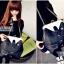 กระเป๋าแฟชั่นทรงเสื้อสูทสีดำออกแบบเก๋..ม๊ากมากค่ะ thumbnail 7