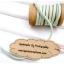 LCB5 : เชือกหนังแบน กว้าง 3 mm หนา 2 mm ราคาต่อ 1 หลา - โทนสีเขียวพาสเทล