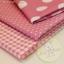 เซตผ้าฝ้ายโทนสีชมพู (1/8 หลา ) 3 ชิ้น thumbnail 1