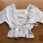 เสื้อผ้าคอตตอนสีขาวตกแต่งลูกไม้ thumbnail 4