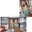 เดรสแฟชั่นเกาหลีแขนกุดผ้าซีฟองลายดอกแต่งโบว์ที่ไหล่ ตัดต่ดกระโปรงสีเขียวอมฟ้า thumbnail 5