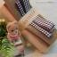 เซตผ้าสำหรับเย็บตุ๊กตาหมี 2 ตัว - โทนสีครีม thumbnail 3