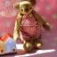 ตุ๊กตาหมีผ้าขนสั้นสีน้ำตาลขนาด 13 cm. - Cracker Boy thumbnail 4