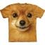 The Mountain Big Face Pomeranian Dog T-Shirts thumbnail 1
