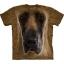 The Mountain Big Face Great Dane Dog T-Shirts thumbnail 1