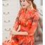 เดรสแฟชั่นเกาหลี สีแซ่บๆ โทนส้ม สวยสดใส สำหรับใคร ชอบสีแจ่มๆ จัดเลยค่ะ thumbnail 9