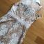 มินิเดรสผ้าลูกไม้สีเบจตกแต่งริบบิ้นผ้าชีฟองสีขาว thumbnail 11