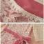Anglecitiz เดรสคอยูแขนสี่ส่วนผ้าลูกไม้สีครีมซับในสีชมพู thumbnail 6