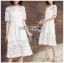 Dress เชิ้ตเดรสผ้าลูกไม้สีขาว thumbnail 1