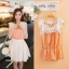 Chu ViVi เสื้อแฟชั่นแขนกุดผ้าซีฟองสีส้ม thumbnail 1