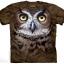 เสื้อยืด3Dสุดแนว(GREAT HORNED OWL HEAD T-SHIRT) thumbnail 1